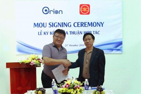Đại Sàn ký kết phân phối độc quyền keo dán sàn, keo dán đá với Orion Hàn Quốc